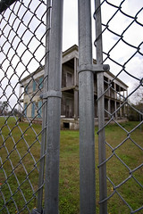 No Trespassing (damechartreuse) Tags: history neglect fence louisiana decay neworleans security haunted chain plantation historical mansion antebellum arabi chalmette lebeau