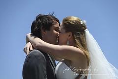 Hannah+Matt Sneak Peak (Frenchmoor) Tags: wedding brown green beach groom bride ceremony firstkiss flickriosapp:filter=nofilter uploaded:by=flickrmobilehannahandmattwedding