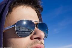 Mountain View (ArcHelen) Tags: winter mountain snow ski reflection glasses mirror holidays skiing lift bro