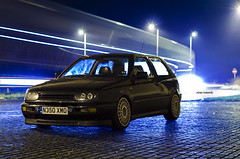 Ollie's VR - Colour Version (Adam Kennedy Photography) Tags: light vw night dark golf volkswagen nikon long exposure track low trails fast modified lowered vr6 mk3 compomotive adamkennedy d7000 stanceworks stancelife