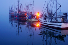 Foggy Steveston () Tags: blue canada 35mm boats bc foggy richmond bluehour fullframe dim fishingboat steveston primelens fishermanwharf rx1 stevestonhistoricfishingvillage sonyrx1 sonydscrx1 sonycybershotrx1