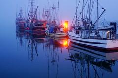 Foggy Steveston (どこでもいっしょ) Tags: blue canada 35mm boats bc foggy richmond bluehour fullframe dim fishingboat steveston primelens fishermanwharf rx1 stevestonhistoricfishingvillage sonyrx1 sonydscrx1 sonycybershotrx1