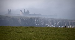 looking backwards (Ray Byrne) Tags: castle history misty northumberland historical dunstanburgh raybyrne byrneoutcouk webnorthcouk