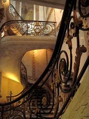 Stairs in Jacquemart-André museum, Paris 17th [Explore 21/01/2013] (Sokleine) Tags: paris france museum stairs interior musée ironwork iledefrance escalier jacquemartandré 75008 ferronnerie