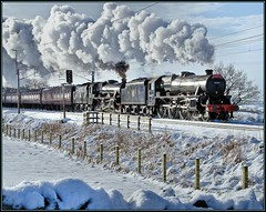 Double Five (rhugo) Tags: snow smoke trains steam railways locomotives blackfive explored