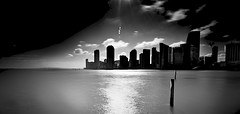 MIAMI UNDER PULSATING SUNLIGHT HOLDS THE SPIRIT OF THE CITY ~ EXPLORE (Terp's ~ R. Terpolilli) Tags: longexposure bw blackwhite florida miami miamibeach bwphotography fineartphotography biscaynebay ndfilters longexposurephotography neutraldensityphotography 10stopndfilters terpsphotostream richterpolilli imagesgomiami imagesofmiami