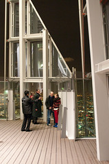 Shard open viewing level (GaryColet) Tags: london tower night view barrier shard theshard
