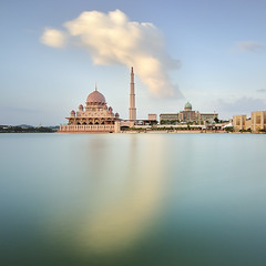 Putra Mosque and Prime Minister Office in Putrajaya Malaysia (naza.carraro) Tags: city travel summer vacation sky urban cloud lake reflection tower castle history tourism water architecture modern river landscape asian outside religious persian construction scenery worship asia view outdoor minaret muslim islam traditional famous faith prayer religion pray culture floating landmark istanbul palace mosque tourist structure morroco arabic holy morocco malaysia dome destination sultan kuala arabian putrajaya casbah ramadan interest masjid aidilfitri lumpur attraction moroccan islamic putra arabesque syawal federalterritory putramosque eidul masjidputra muslimmosque putrajayalake wilayahpersekutuanstate