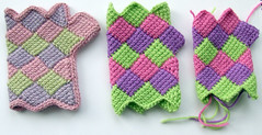 Entrelac Gloves (Wool n Hook) Tags: crochet entrelac crochetdesigns woolnhook