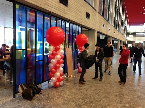 Ballonpilaar Breed Rond Erasmus Universiteit Rotterdam