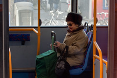 Old lady on the 24 (Gary Kinsman) Tags: bus london zoom candid streetphotography streetlife telephoto voyeur oldlady through camdentown voyeurism nw1 tfl camdenroad route24 elderlywoman no24 canon70300mm canoneos5dmarkii canon5dmkii