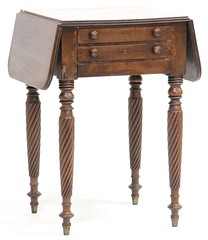 31. Transitional American Drop Side Work Table