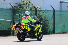 Security for the PM. (aitch tee) Tags: security walesuk cardiffairport policevehicles heddludecymru 18july2016 newpmsvisit