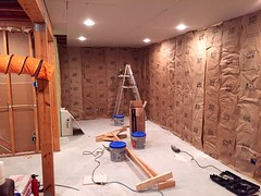 Basement Remodel (devinaodom) Tags: drywall painting carpet construction doors flooring trim electrical lowes interiordesign carpentry photostream remodeling homeimprovements thehomedepot audiovisual