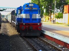 HYB - AWB Pass. (B V Ashok) Tags: indianrailways ir hyderabadaurangabad hybawb passenger 57549 gangakher gnh scr kzj kazipet alco wdg3a 14575 shakti