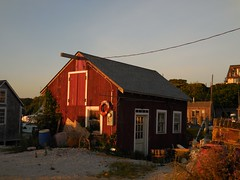 Red house at sunset on Chappaquiddick (ataxiagallery) Tags: chappaquiddick goldenhour sunset island tinyhouse redhouse red
