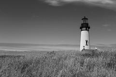 Yaquina Lighthouse (EXPLORED) (mfhiatt) Tags: blackandwhite oregon newport yaquina lighhouse ocean dscf94870716bwjpg