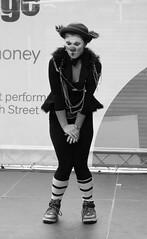 Fringe on the Mile 2016 0206 (byronv2) Tags: edinburgh edimbourg edinburghfestival fringe fringe2016 edinburghfestivalfringe edinburghfringe edinburghfringe2016 edinburghfestivalfringe2016 royalmile oldtown performer festival stage facepaint makeup music musician dance dancer acrobat clown blackandwhite blackwhite bw monochrome woman girl flexible dancing costume pretty sexy