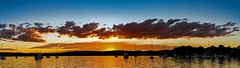 Sunset Pano (Sterling67) Tags: bolton point lakemacquarie sunset clouds water reflection boats shore outdoor