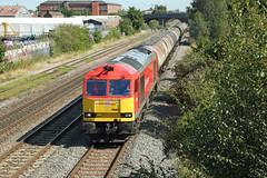 60063 Burton on Trent (DieselDude321) Tags: 60063 class 60 db dbs schenker cargo 6m57 0715 lindsey oil refinery kingsbury sidings burtonontrent
