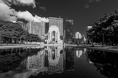 DSC01290 (Damir Govorcin Photography) Tags: hyde park sydney war memorial water clouds sky zeiss 1635mm sony a7ii