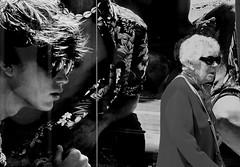 Street view (patrick_milan) Tags: noiretblanc blackandwhite noir blanc monochrome nb bw black white street rue people personne gens streetview fminin femal femme woman women girl fille belle beautiful portrait face candide