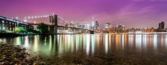 brooklyn park (noaxl.berlin) Tags: manhatten sony a7rii samyang rokinon walimex 14mm newyork ny architektur architecture skyscraper night brooklyn lights skyline bridge stars