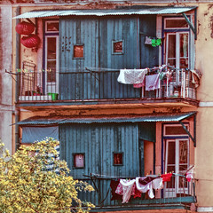 Lisbon Balconies 2 (Artypixall) Tags: portugal lisbon balconies windows clotheslines clothes facade urbanscene faa getty