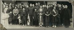 ArchJAP023 Japan, 1930er (Hans-Michael Tappen) Tags: archivhansmichaeltappen japan nihon nippon 1930er 1930s  kimono tradition kleidung stoff clothing muster stoffmuster  gruppenfoto geta schuhe