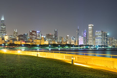 Beautiful Chicago. (Rares M. Dutu) Tags: chicago skyline chicagoskyline shedd sheddaquarium canon canon6d longexposure beautiful beauty cityskyline chicagoskylines buildings skyscraper willis sears searstower willistower canoneos canondslr tripod love alone breathe think peaceful