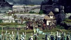 Angmar attacks (torq42) Tags: 15mm 18mm fantasy lordoftherings wargame dragonrampant tabletop middleearth warhammerfantasy orcs elves angmar mammoth