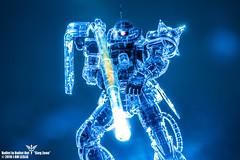 Bullet In Bullet Out - Art of Zaku (I AM LESLIE) Tags: gundam gunpla toy bandai mg zaku sony 90mm macro blue