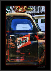 Bosch Premium Beer (the Gallopping Geezer 3.8 million + views....) Tags: truck historic classic vintage old auto automobile vehicle abandoned decay decayed weathered worn rust rusty rusted derelict faded masonmotors mason mi michigan upperpeninsula collection display forsale gas gasoline boschbeer ad advertise advertisement promo rural backroads canon 5d3 tamron 28300 geezer 2016