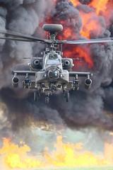 """Burning"" (cjf3) Tags: apache ah64 gunship armyaircorps"
