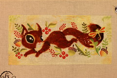 August 27 2016 Saturday (interchangeableparts) Tags: needlepoint playfulsquirrel sandravargas