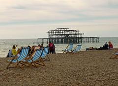 West Pier (neuphin) Tags: brighton pier westpier beach deckchair seaside ruin structure