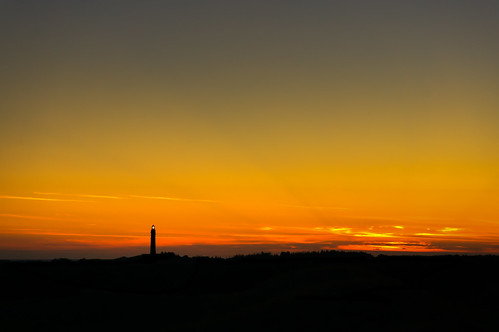 Amrum´s Lighthouse at Sunset