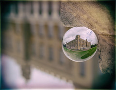 Syon House Through The Looking Glass by Simon & His Camera (Simon & His Camera) Tags: simonandhiscamera syonhousepark syon syonpark syonhouse crystalball sphere orb building architecture isleworth brentford middlesex london distorted glass iconic round reflection outdoor dof
