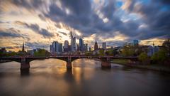 Frankfurt Skyline (lairdofogroates) Tags: langzeitbelichtung skyscraper skyline frankfurtammain mainhattan