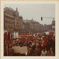1971-05-01 Prague, Czechoslovakia May Day Parade (IES Abroad Alumni) Tags: iesabroad vienna austria studentphotos 1971 spring studyabroad alumni prague czechoslovakia mayday parade