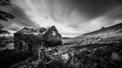Dereliction (derekgordon1) Tags: theroaches windy clouds longexposure barn sky outdoors landscape blackwhite mono