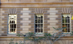 Three in a row (boeckli) Tags: australia sydney windows reflection spiegelung window windowwednesdays newwallwednesday outdoor fenster gebude building architecture architektur sandstein sandstone three drei dwwg