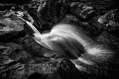 Waterjet and spray (sophiaspurgin) Tags: waterfall fairypools skye scotland islands highlandsandislands uk rock spray jet water river stream