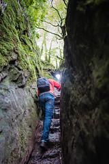 The Climb (Ian D) Tags: fuji finnichglen devilspulpit scotland stirlingshire fujifilm fujixt2