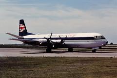 G-APET Vanguard BA EMA 06-06-76 (cvtperson) Tags: gapet vickers vanguard merchantman british airways east midlands ema egnx