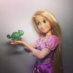 Best Friends Forever #rapunzel #pascal #tangled (disneysdolllover) Tags: rapunzel pascal tangled