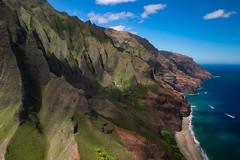 Napali Coast, Kauai (akarakoc) Tags: napali nakedhawaii hawaii kauai sun fujifilm xt2 xf1655 1655 xf landscape aerial beach coast blue green garden island pazific