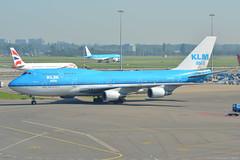 PH-BFP KLM Boeing 747-400 EHAM 13/9/16 (David K- IOM Pics) Tags: ph phbfp b744 boeing 747400 747 klm royal dutch airlines kl eham ams amsterdam schiphol airport