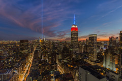 Tribute in Light (johnbacaring) Tags: neverforget tributeinlight empirestatebuilding nyc newyorkcity 911