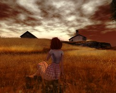 Looking the past through my eyes (Kanashi Yuhara [Thanks for the fav's!!]) Tags: secondlife wyeth sunset